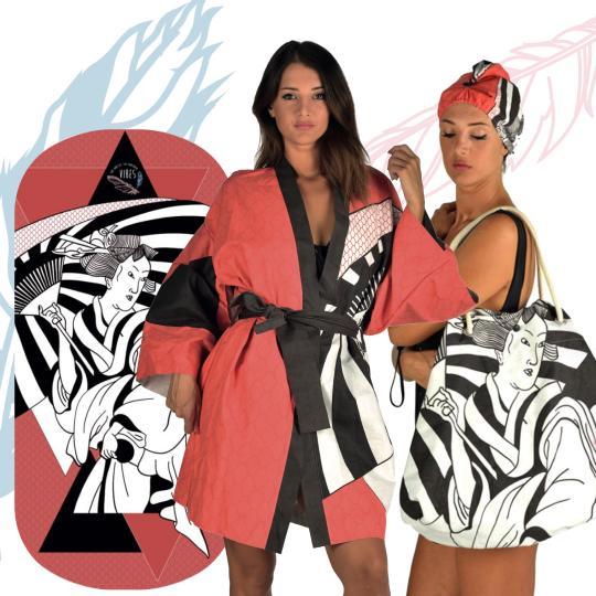 Kit Japan (Telo + Kimono + Borsa)