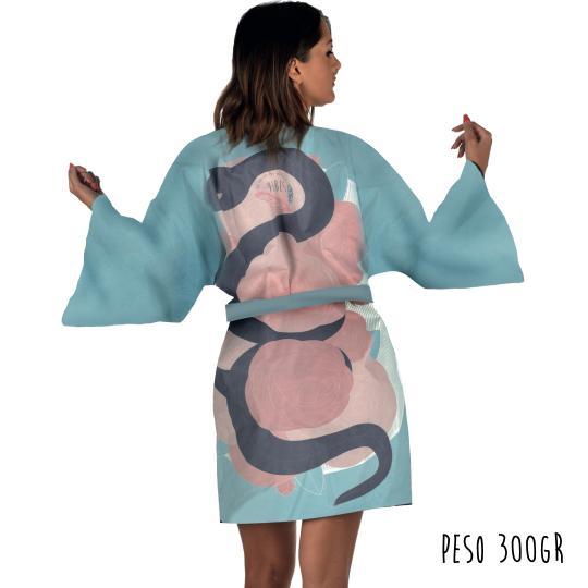 Kimono Blue Snake