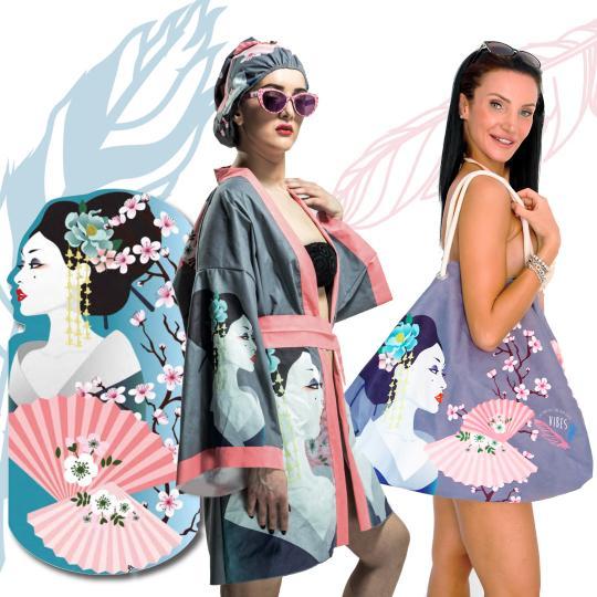Kit Geisha (Telo + Kimono + Borsa)